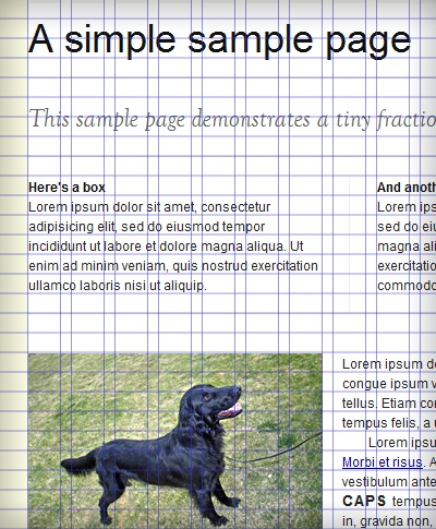 Blueprint css template for expression design carlmera there are utilities to customize the blueprint grid to any number of columns of any width but i started with the default 24 column grid and created a malvernweather Choice Image